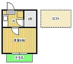 ジュネパレス松戸第156[1階]の間取り