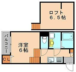 インフィールド箱崎[1階]の間取り