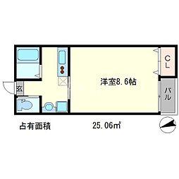 京OHBUIV[3階]の間取り