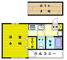 サンライフ2[2階]の間取り