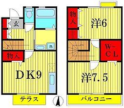 [テラスハウス] 東京都葛飾区水元3丁目 の賃貸【/】の間取り
