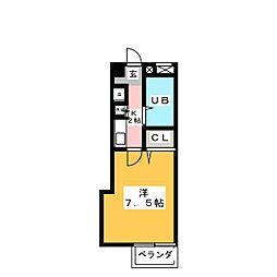 ラメール植田[2階]の間取り