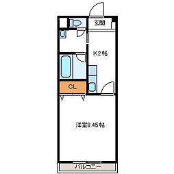 埼玉県加須市中央2丁目の賃貸マンションの間取り