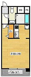 ピュアドーム博多ファインビュー[5階]の間取り