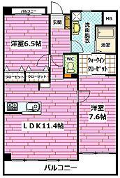 広島県広島市安佐南区山本4丁目の賃貸アパートの間取り