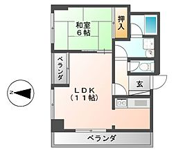 サンコーマンション[7階]の間取り