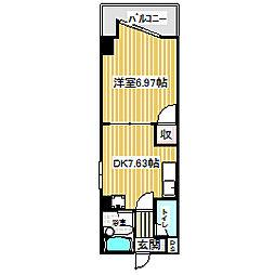愛知県名古屋市中村区畑江通3丁目の賃貸マンションの間取り