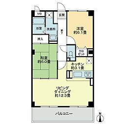 フィネス藍住[5階]の間取り