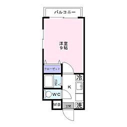 デジュール箱崎[301号室]の間取り