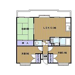 アルカサール東戸塚[3階]の間取り