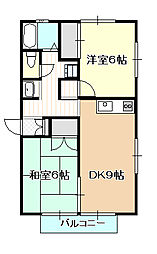 岡山県岡山市北区今4丁目の賃貸アパートの間取り