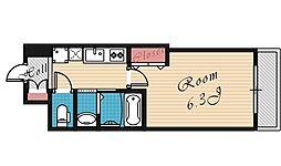 エクセレント都島ノースコート[513号室号室]の間取り