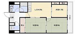 シャルマンシェソワ[6階]の間取り