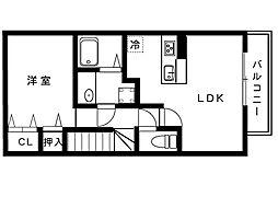 マ・メゾン岩屋[2階]の間取り