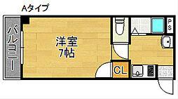 パールシティマンション玉出[4階]の間取り