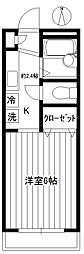 早稲田EAST[202号室]の間取り