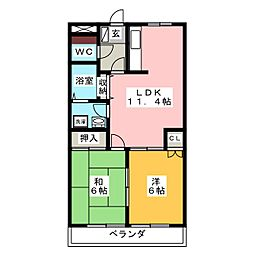 サンフィット21[2階]の間取り