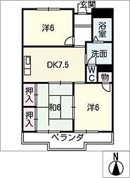 メゾン マルヨシ[2階]の間取り