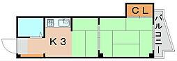 トルファン2[2階]の間取り