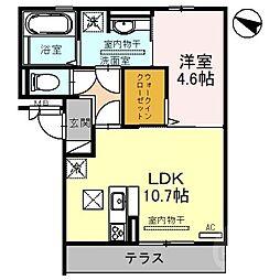 阪急京都本線 正雀駅 徒歩7分の賃貸アパート 1階1LDKの間取り