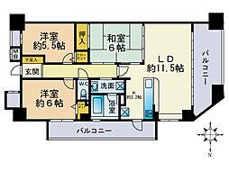 ライオンズ藤崎[4階]の間取り