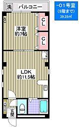 デイズハイツ桜川[4階]の間取り