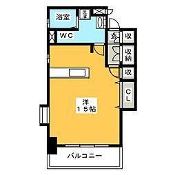 ピュアドームトレンディ高宮[6階]の間取り