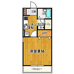 カーサフローラー[2階]の間取り