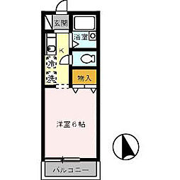 広島県広島市安佐北区可部南1丁目の賃貸アパートの間取り