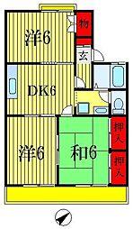 千葉県船橋市前貝塚町の賃貸アパートの間取り