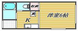 松岡荘[1階]の間取り