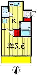 ラグジュアリーガーデン東松戸[1307号室]の間取り