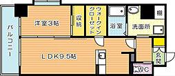 CityCourt折尾(シティコート折尾)[5階]の間取り