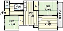ヤマシタビル[3階]の間取り