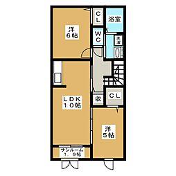 アルタイル[2階]の間取り