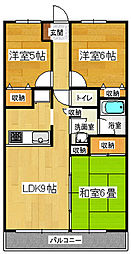 リバーサイド雪沢[2階]の間取り