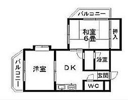 ジュネパレス横浜第02[304号室]の間取り