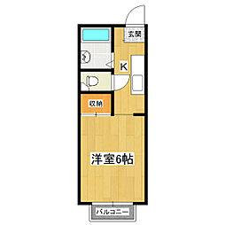 第三中島コーポA[203号室]の間取り