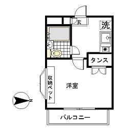サンハウス中田[1階]の間取り