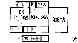 畑文化[2階]の間取り