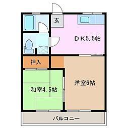 サニーハイツハットリ[2階]の間取り