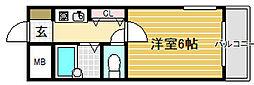 プレステージフジ堺市壱番館[3階]の間取り