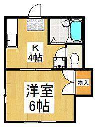 第2ハシバハイツ[2階]の間取り