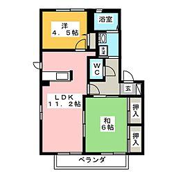 La Cour B[2階]の間取り