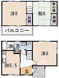 [一戸建] 大阪府八尾市西山本町6丁目 の賃貸【/】の間取り