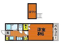 岡山県岡山市中区高屋丁目なしの賃貸マンションの間取り