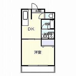 カーサカジマI[4階]の間取り