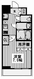 アルティザ淡路駅東 6階1Kの間取り