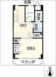 エクセル上小田井[2階]の間取り