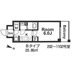 メインステージ京町堀[6階]の間取り